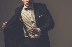 Sharp dressed fashionist wearing jacket Royalty Free Stock Image