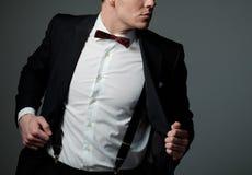 Sharp dressed fashionist wearing jacket Stock Photography