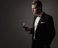 Sharp dressed fashionist wearing suit Stock Photos