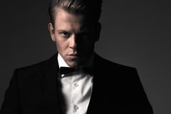 Sharp dressed fashionist wearing suit Stock Image