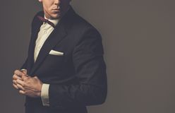 Sharp dressed fashionist wearing suit Stock Photo