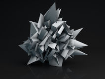 Sharp edge shape abstract 3D render Royalty Free Stock Photography