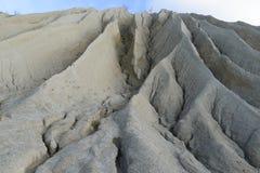 Sharp edges of a hill in Rummu quarry, Estonia. Stock Photos