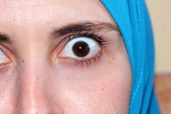 Sharp eyes of arab muslim woman Royalty Free Stock Images