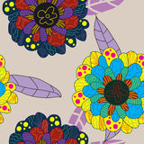 Sharp Flower Group Seamless Pattern_eps Royalty Free Stock Photography