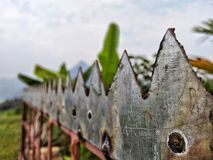 Sharp gate stock image