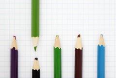 Sharp green pencil royalty free stock image