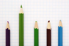 Sharp  green  pencil Royalty Free Stock Images