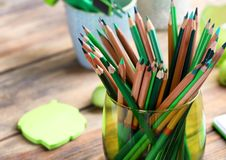 Free Sharp Green Pencils Stock Images - 107703114