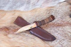 Sharp hunting knife royalty free stock photography