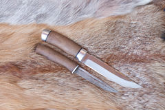 Sharp hunting knife royalty free stock photo