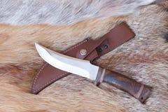 Sharp hunting knife stock image