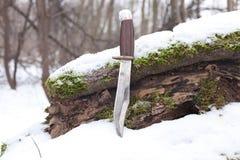 Sharp hunting knife stock photography