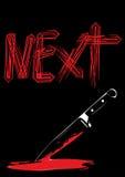 Sharp knife on black background Royalty Free Stock Images