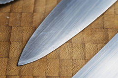 Sharp knife blade tool Royalty Free Stock Image