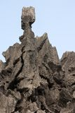 Sharp limestone. Detail of the Palawan coastline in Philippines royalty free stock image