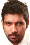 Sharp looking face. A sharp looking face of an Indian young man Royalty Free Stock Photos