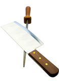 Sharp meat cleaver with poker Stock Image