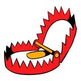 Sharp metal trap icon, icon cartoon Royalty Free Stock Photos