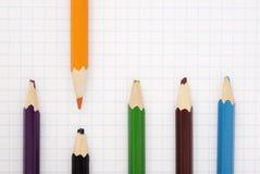 Sharp orange pencil Royalty Free Stock Photo