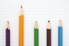 Sharp  orange  pencil Stock Photography