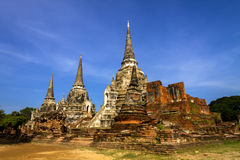 Sharp pagoda and blue sky Stock Image