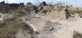 Sharp Peaks of Badlands Royalty Free Stock Images
