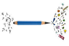 Sharp pencil with creative design Royalty Free Stock Photos