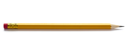 Sharp pencil isolated stock photography