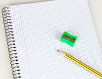 Sharp pencil and sharpener Stock Photography
