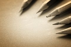 Sharp pencils Royalty Free Stock Images