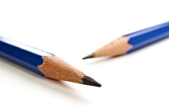Sharp pencils close up. Stock Photos