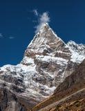 Sharp pointed Mountain Peak in Nepal Himalaya Stock Photography