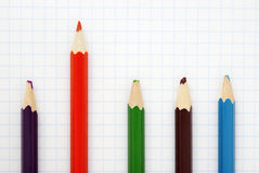 Sharp  red  pencil Royalty Free Stock Image