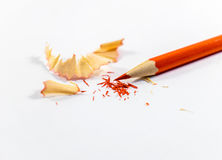 Sharp red pencil Royalty Free Stock Photos