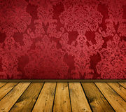 Sharp red vintage interior Royalty Free Stock Photo