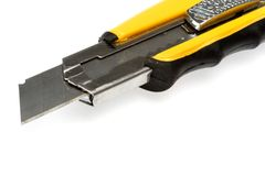 Sharp retractable utility knife Stock Image
