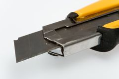 Sharp retractable utility knife Royalty Free Stock Photo
