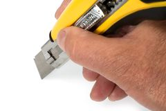 Sharp retractable utility knife Stock Photography