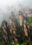 Sharp Rocks In Zhangjiajie National Park Stock Image