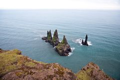 Sharp rocks in the sea Stock Photos