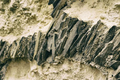 Sharp rocks texture or background Royalty Free Stock Images