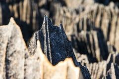 Sharp rocks Tsingy Royalty Free Stock Images