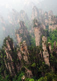 Sharp rocks in zhangjiajie national park Stock Image