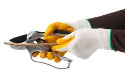 Sharp scissors Royalty Free Stock Image
