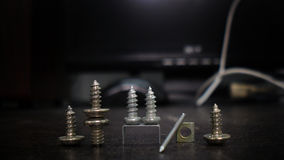 Sharp screws Royalty Free Stock Image