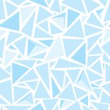 Sharp shapes blue triangles Royalty Free Stock Image