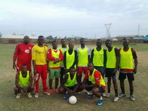 Sharp shooters football club zaria. Friendly match day Royalty Free Stock Image