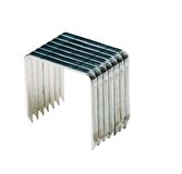Sharp staple pins. Isolated over white Royalty Free Stock Photo