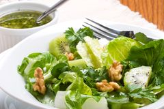 Sharp and sweet green salad Stock Photography